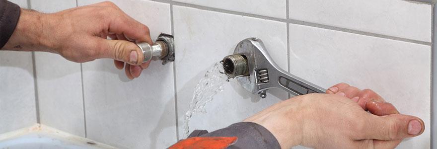 fuite d'eau immédiatement